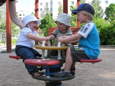 Leikkipuistossa
